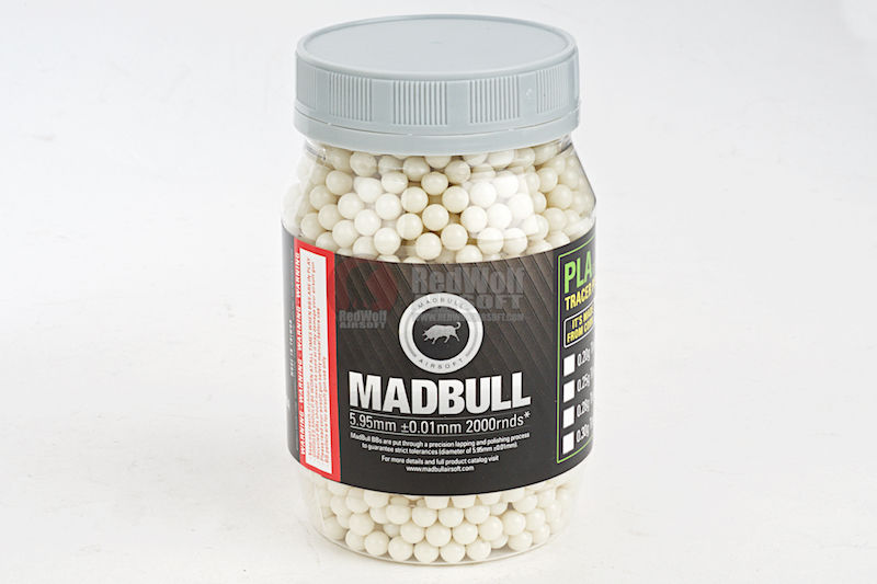 Madbull Precision 0,2g Dark Knight Tracer 2000 rds Bottle <font color=red> (Not for Germany)</font>