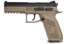 KJ Works CZ P-09 Duty (ASG Licensed) Gas Version - TAN