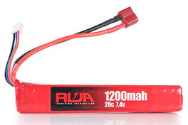 RWA 7.4V 1200mAh (20C) LiPo Rechargeable Battery (Deans)