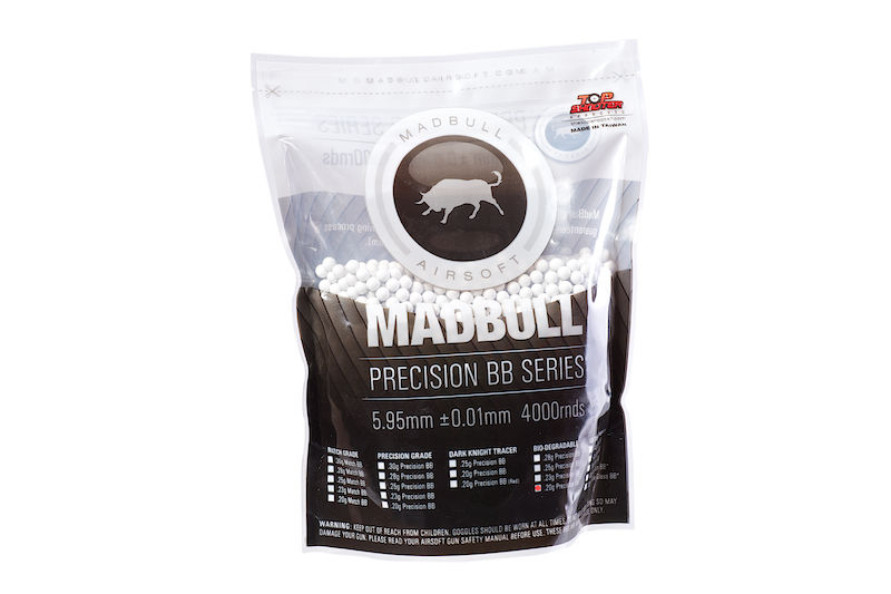 Madbull Precision 0.2g Bio-Degradable BB 4000 rds (Bag) <font color=red> (Not for Germany)</font>
