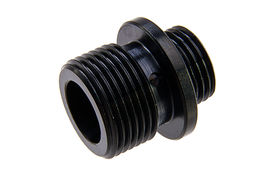 Dynamic Precision Stainless Steel Silencer Adapter M11 CW to M14 CCW - Black